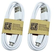 Pack of 2 Original Micro USB Charger Data Cable Samsung Galaxy s2 S4 S3 s5 s6 s7