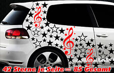 85 Sterne Star Auto Aufkleber Set Sticker Tuning Fee Stylin WandtattooTribel gex