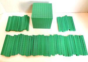 ETA hand2mind Base 10 • Plastic Cube • Plus 60 Rods • Homeschool • Math • Teach