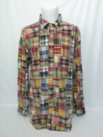 Brooks Brothers Multi Plaid Patchwork Quilted Long Sleeve Shirt Mens Size XL