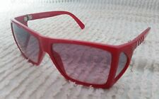 vintage gianni versace metrics sunglasses 80's 90's red rare indie