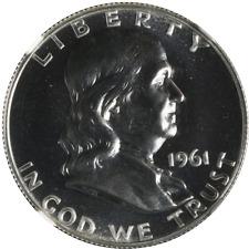 1961-P Franklin Half Dollar Proof NGC PF68 Blazing White Gem STOCK