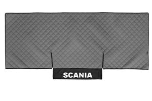 Truck Bed Cover PU Leather Bedspread for SCANIA G,P 2005-2016 Gray Coverlet