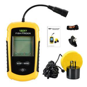 Portable Sonar Fish Finders Alarm 100M Echo Sounder Transducer Lake Sea Fishing