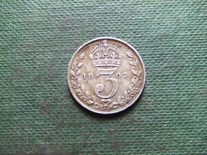 EDWARD VII. 1907, SILVER THREEPENCE.    VERY NICE CONDITION.