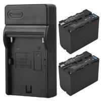 2x 7800mAh Li-ion Battery Pack + Ladegerät für Sony NP-F960 NP-F970 Ersatz Akku