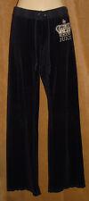 JUICY COUTURE - Black - Crown Bling Bling - Velvet VELOUR Drawstring PANTS sz P