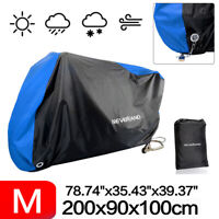 Waterproof Motorcycle Moped Bike Cover Scooter Dust Rain Vented Protector Blue
