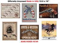 """16""""x12.5"""" Made in USA Smith and Wesson LICENSED TIN SIGN metal poster wall decor"""