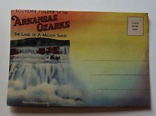 Vintage Arkansas Ozarks Postcard Souvenir Folder Spring Lake Fort Smith U.S. 71