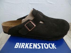 Birkenstock Boston Clogs Mules Men's Braun Suede New