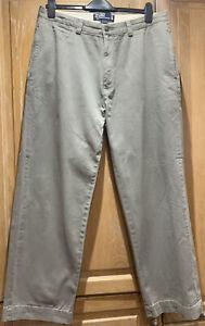 Mens Khaki grey Polo Ralph Lauren Chinos 34 x 29. Great Condition