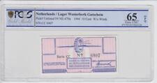 Niederlande Lager Westerbork 10 Cent Gutschein 1944 Grading 65 unzirkuliert