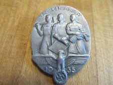 Vintage Aluminum Nazi Germany Labor Day Pin 1935