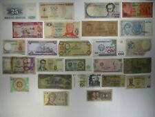 Mixed Lot of 25 Assorted Foreign Banknotes Paper Money Collections & Lots
