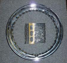 """Harley  16"""" Rim with Chrome Spoke Kit for Steel Hub Models"""