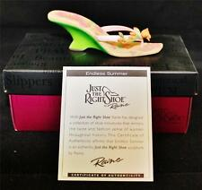 Just the Right Shoe Endless Summer 25196 New in Box, Certificate of Authenticity