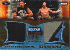 TNA Chavo Guerrero & Hernandez 2013 Impact LIVE GOLD Dual Relic Card SN 31 of 50
