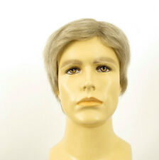 Perruque homme 100% cheveux naturel blanc méché gris THIERRY 51