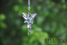 Arwen Evenstar Pendant Necklace LOTR/Vintage Lord of the Rings Blue US Seller