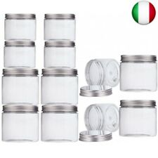 Aitsite Barattoli in Plastica Trasparente 12 Pezzi 6 Pezzi 350  (12PCS, Bianco)