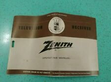 Vintage 1950s Zenith Television Receiver Manual