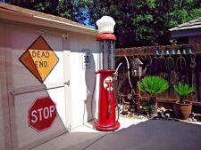 "GAS PUMP HOSE 6 FOOT X 3/4"" BRASS ENDS DISPLAY HOSE FOR PUMP RESTORATION ONLY"
