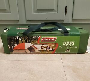 NEW Coleman 3 Person Sundome Camping Tent Weathertech - Fits Queen Airbed