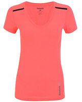 New Reebok Logo Top T-Shirt - Pink - Ladies Womens Girls, Gym Fitness