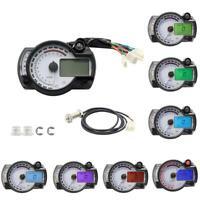 RX2N Style Motorcycle LCD Digital Speedometer Tachometer Odometer Backlit Gauge