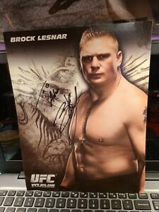 The Beast BROCK LESNAR UFC Signed Autographed 8 1/2 x 11 Photo WWE MMA