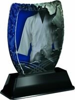 FOOTBALL MOST IMPROVED PLAYER TROPHY ACRYLIC *FREE ENGRAVING* 100-160mm 4 sizes