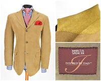 Mens Marks & Spencer Blazer Jacket Camel Corduroy Sport Italy Size EU48 / UK38
