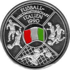 """Medaille """"Fußballweltmeisterschaft - Italien 1990"""" Stempelglanz Silber 999"""