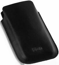 Design LEDER ETUI Tasche Case Hülle black f HTC ChaCha