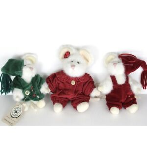 Boyds Bear Tweek and Squeek McSnoozle with Monterey Mouski Mouse Set Of 3