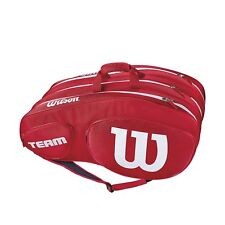 Wilson Team Iii 12 pack tennis racquet racket bag - Red - Auth Dealer - Reg $90