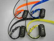 4*GARMIN DC40 GPS Dog tracking collar  USA VER straps yellow orange black Blu