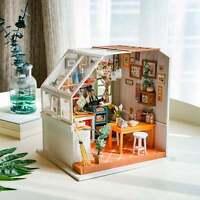 Robotime Rolife DIY Miniature DollHouse Kit LED Jason's Kitchen Model Gift Craft