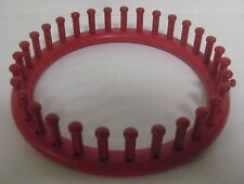 "Round RED Knitting Loom 7.5"" Diameter Knitter 30-Peg Boye or Knifty DIY Craft"