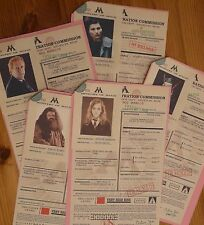 Harry Potter - 5 X completed Muggle Born Registration Forms - Reproduction/Copys