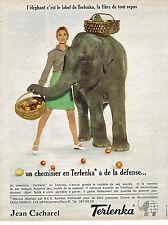 PUBLICITE ADVERTISING 084  1965  CACHAREL   chemisier & jupe en TERLANCA