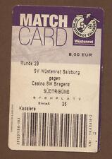 Orig.Ticket  Bundesliga  Österreich 01/02  WÜSTENROT SALZBURG  - CASINO BREGENZ