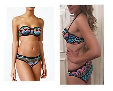 Bikini Nation Bralette Bikini Top & Hipster Swim Bottoms Set Swimsuit SET Medium