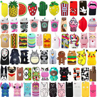 For iPhone X 8 8Plus 3D Cute Cartoon Animal Soft Silicone Phone Case Covers Back