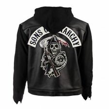 Soa Sons Of Anarchy Capuche Véritable Cuir / Veste Simili Cuir