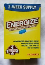 Energize - 28 tablets Dietary Supplement , the all day energy pill - Exp:02/2021