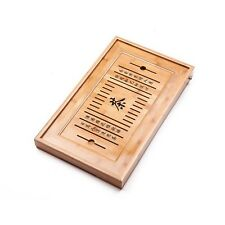 Bamboo Reservoir & Drainage Type Kung Fu GongFu Tea Table Serving Tray L19.67...