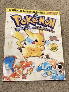 Pokemon Special Edition Yellow Red Blue Official Trainer's Guide W/ The Stickers