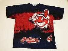 Large Indians Graphic T Shirt Red and blue